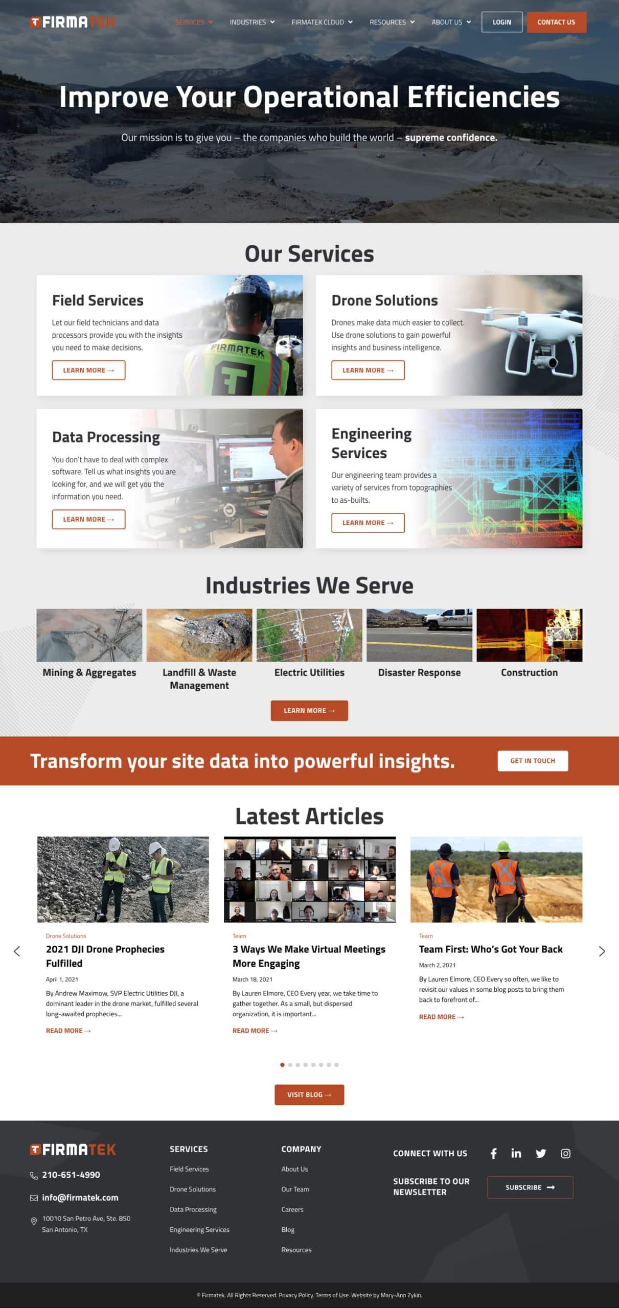 Firmatek Services Page