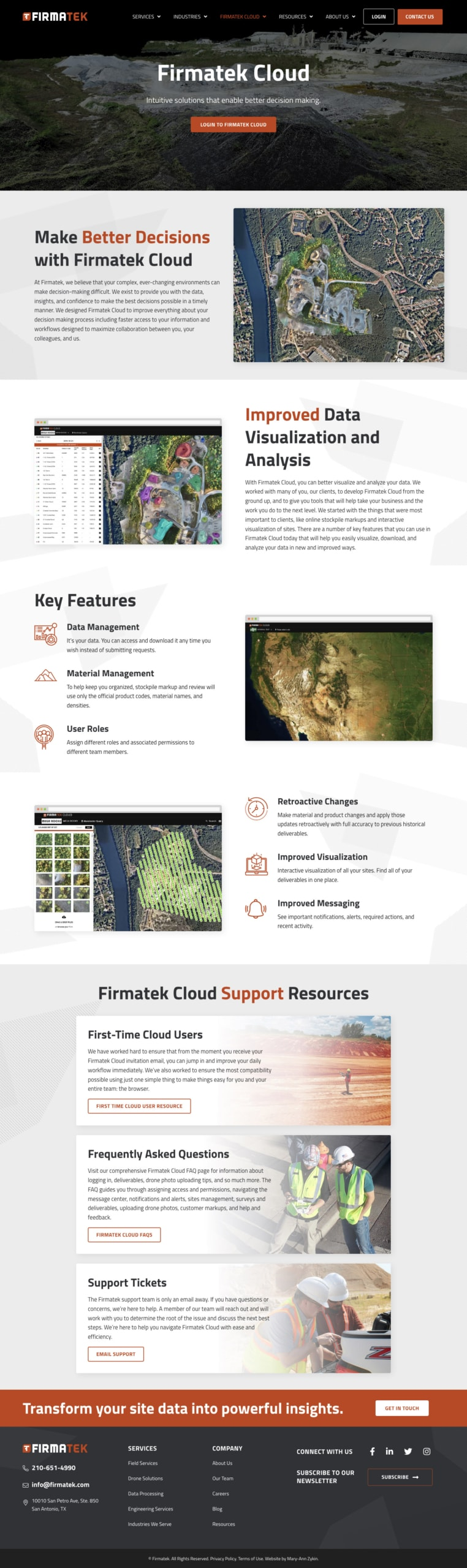 Firmatek Cloud Info Page