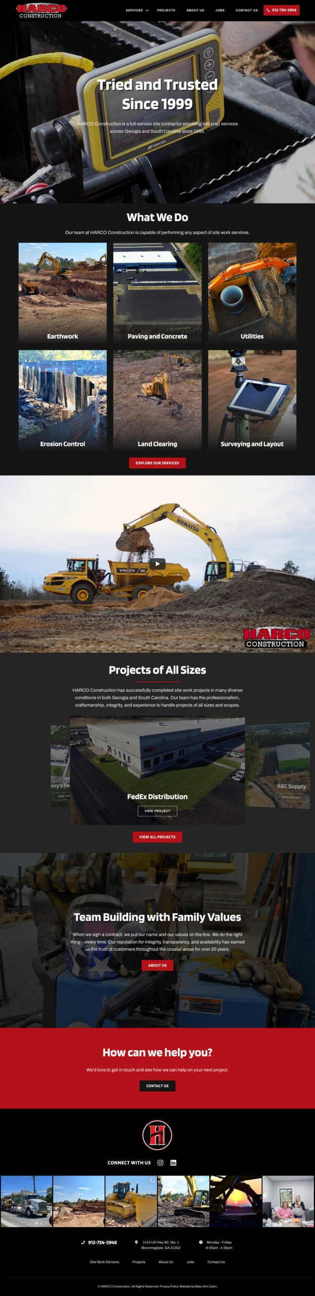 Harco Construction Homepage