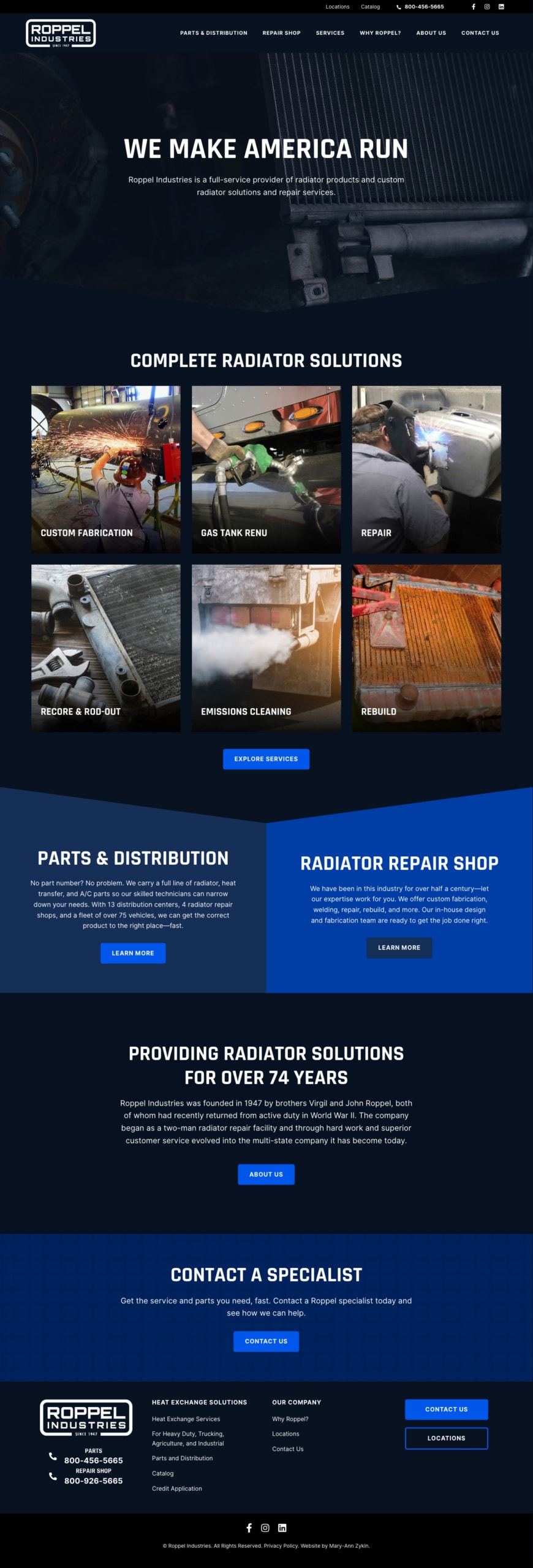 Roppel Industries Home Page