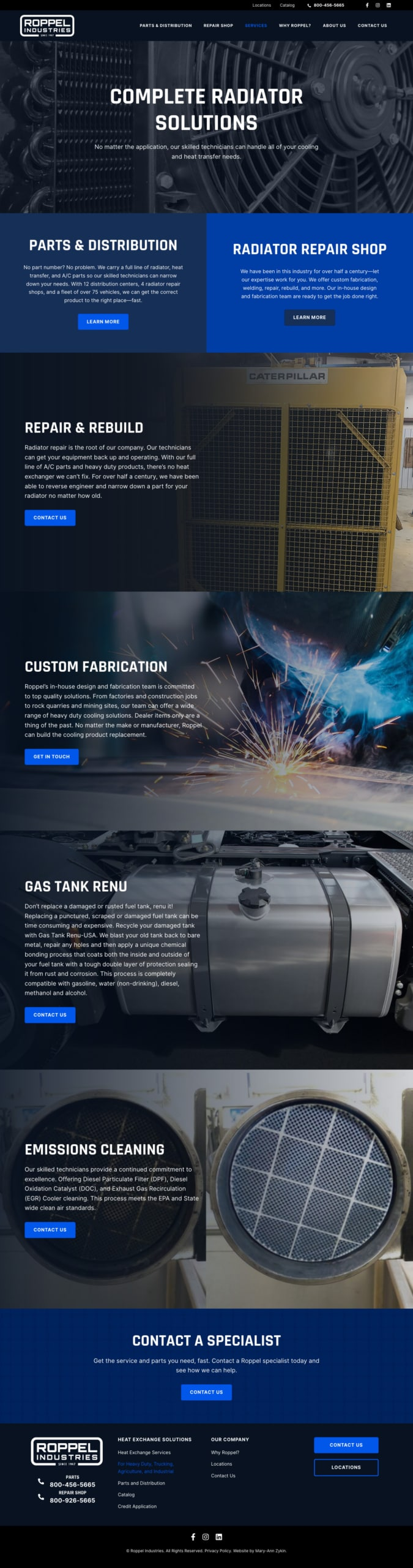Roppel Industries Services Page