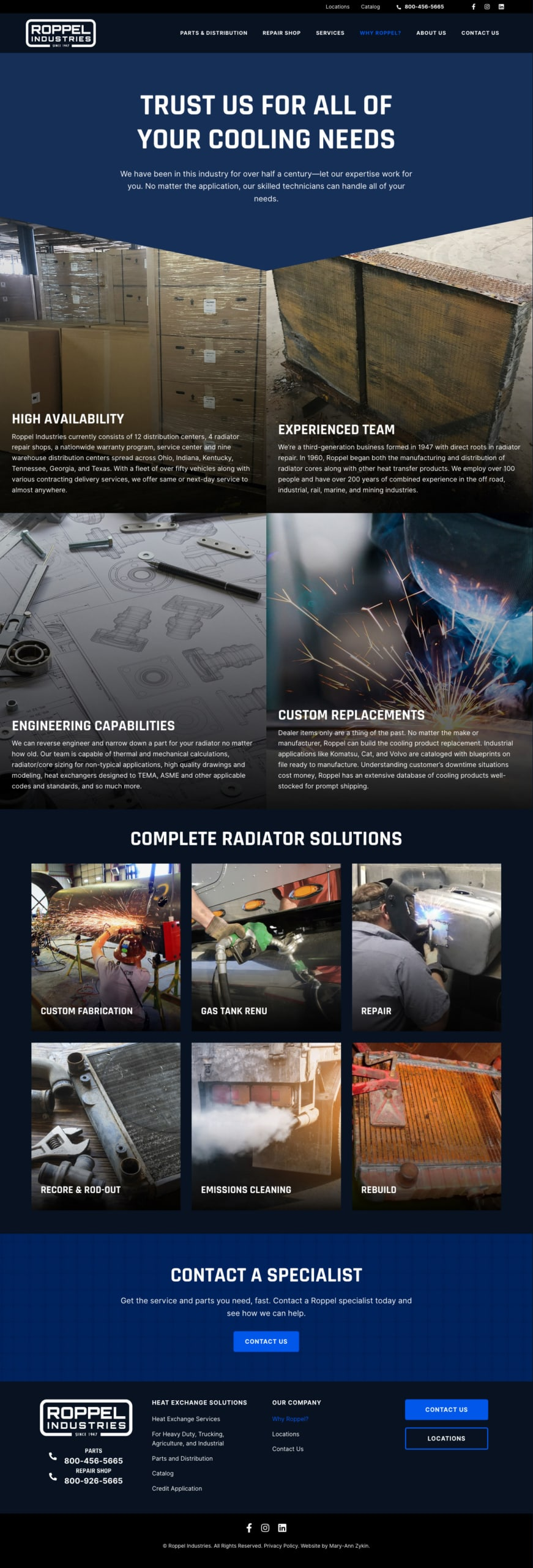 Roppel Industries Value Propositions