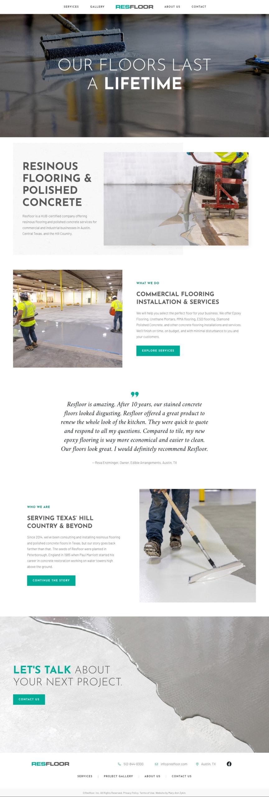 Resfloor Homepage
