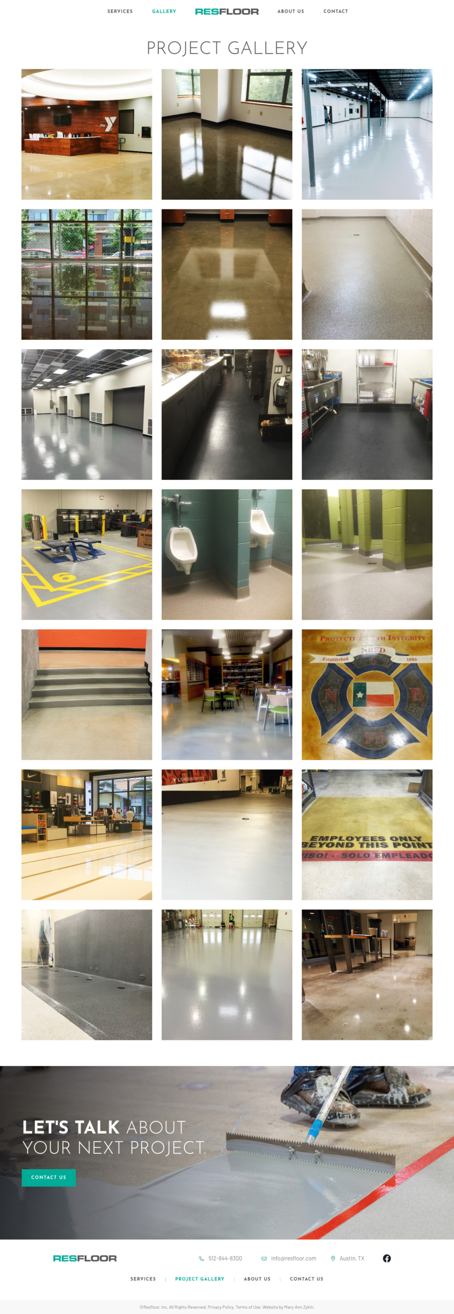 Resfloor Projects Page